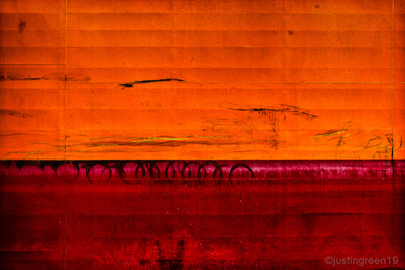 Urban abstract orange red