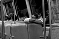 commuter asleep